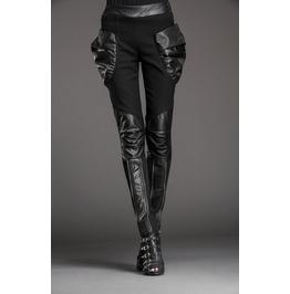 Stylish Patchwork Bulky Pockets Slim Denim Pants