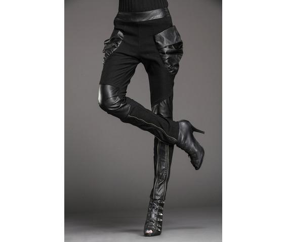 stylish_patchwork_bulky_pockets_slim_denim_pants_leggings_5.JPG