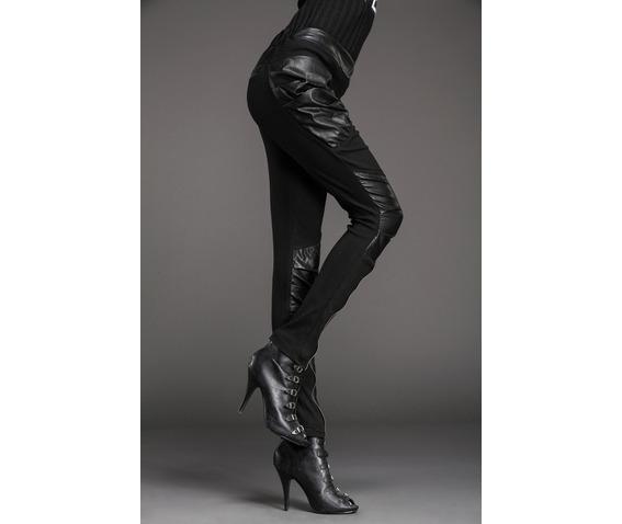 stylish_patchwork_bulky_pockets_slim_denim_pants_leggings_4.JPG