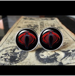 G.I Joe/Cobra Symbol Cuff Links Men,Wedding,Groom,Gifts