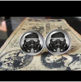 Star Wars Stormtrooper Cuff Links Men,Wedding,Groom
