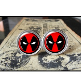 Dead Pool Logo #1 Cuff Links Men,Wedding,Groom
