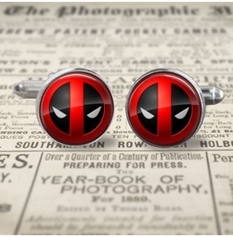 Dead Pool Logo #2 Cuff Links Men,Wedding,Groomsmen,Gift