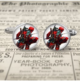 Dead Pool #3 Cuff Links Men,Wedding,Groomsmen,Gifts