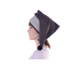Long Gray Stocking Cap Two Tone Warm Winter Hat