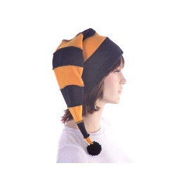 Black Gold Striped Stocking Cap