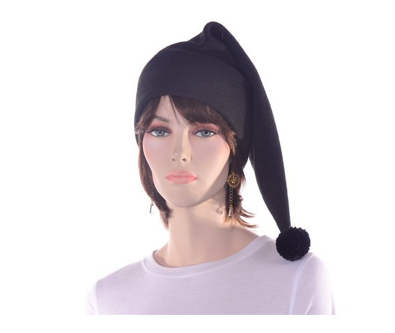 black_stocking_cap_with_pompom_made_from_fleece_hats_caps_6.JPG