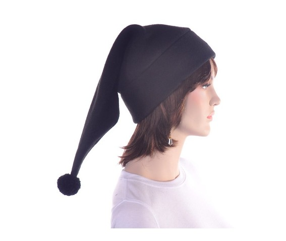 black_stocking_cap_with_pompom_made_from_fleece_hats_caps_5.JPG