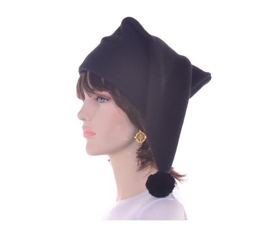 black_stocking_cap_with_pompom_made_from_fleece_hats_caps_4.JPG