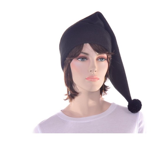 black_stocking_cap_with_pompom_made_from_fleece_hats_caps_3.JPG