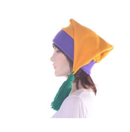 Mardi Gras Stocking Cap Purple Gold Green Tassel