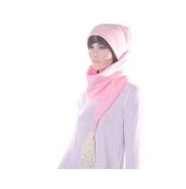 Goth Pastel Pink Long Stocking Cap Tassel