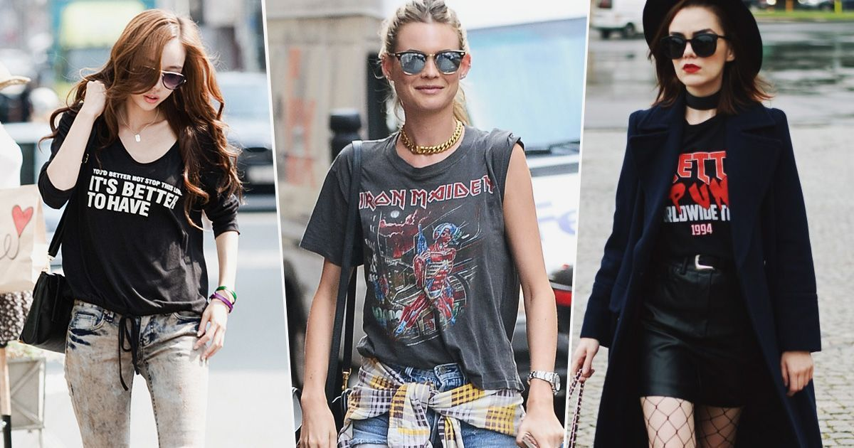 27 Ways to Style Graphic Tees And Look Chic