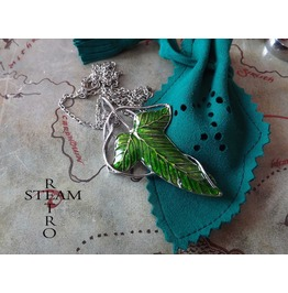 Lord Rings Legolas Green Leaf Brooch Necklace
