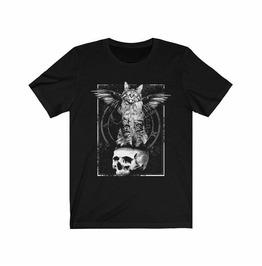 Occult Cat Print T-Shirt