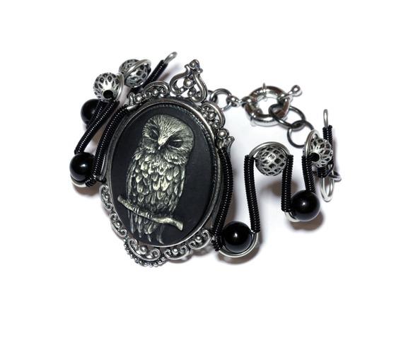 steam_goth_bracelet_owl_black_silver_tone_bracelets_and_wristbands_2.jpg