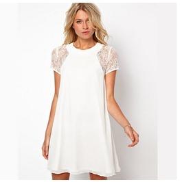 White lace elegant dress dresses 4