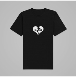 Broken Heart Crew Neckline T-Shirt