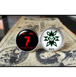 7 Deadly Sins Envy Cuff Links Men,Wedding,Groomsmen
