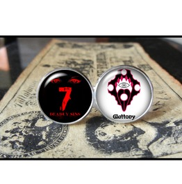 7 Deadly Sins Gluttony Cuff Links Men,Wedding,Groomsmen