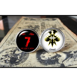 7 Deadly Sins Greed Cuff Links Men,Wedding,Groomsmen