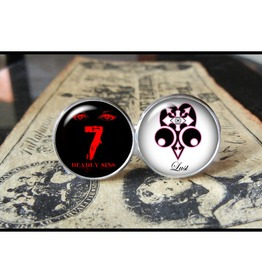 7 Deadly Sins Lust Cuff Links Men,Wedding,Groomsmen