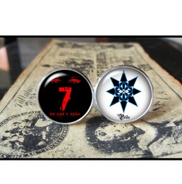 7 Deadly Sins Pride Cuff Links Men,Wedding,Groomsmen