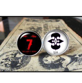 7 Deadly Sins Sloth Cuff Links Men,Wedding,Groomsmen