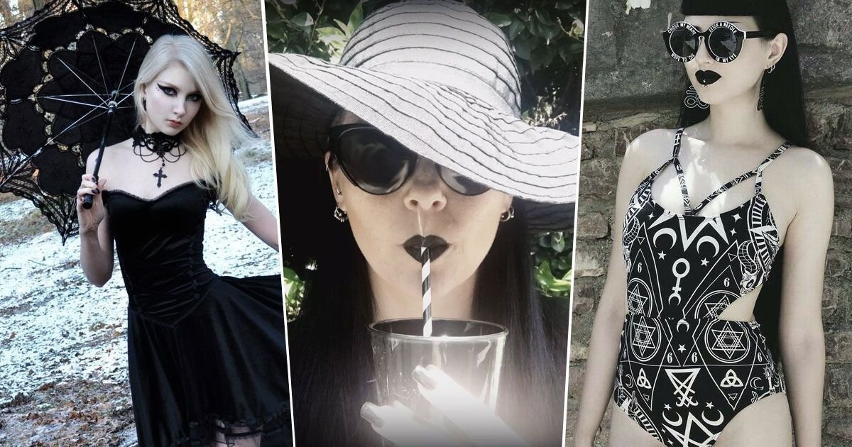 Goth looks for summer fun beat the heat even when all you wear is black