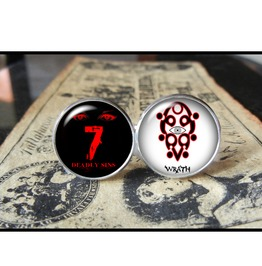 7 Deadly Sins Wrath Cuff Links Men,Wedding,Groomsmen