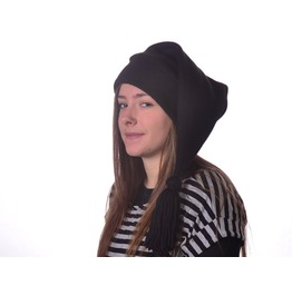 Black Stocking Cap Tassel Cosplay Elf Hat