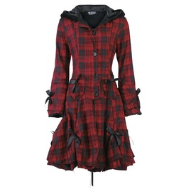 Alice Coat Red Check Poizen Industries