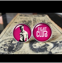 Fight Club Minimalist Cuff Links Men,Wedding,Dad