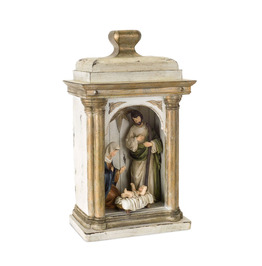 """Brown Holy Family 15""""H Arch Holiday Decor"""