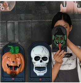 Halloween Glowing Haunted House Secret Room Tricky Doorbell Toy Pendant