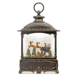 Snow Globe Lantern With Santa