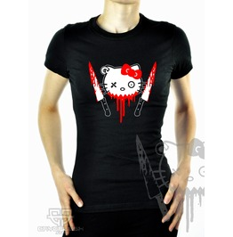 Cryoflesh Psycho Kitty Cyber Goth Shirt Female