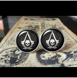 Assassins Creed Black Flag #1 Cuff Links Men,Wedding