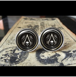 Assassins Creed Black Flag #2 Cuff Links Men,Weddings