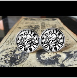 White Zombie Logo Cuff Links Men,Weddings,Groomsmen