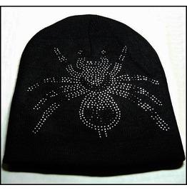 Black Spider Beanie Skull Cap Hat