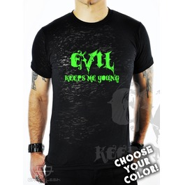 Cryoflesh Evil Keeps Young Black Burnout Top Male