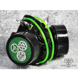 Cryoflesh Rivethead Gear Cog Cyber Goth Mask Dc