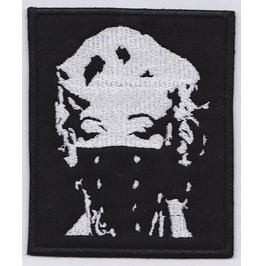 Marilyn Bandana Embroidered Patch, 4 X 3,2 Inch