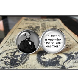 Abe Lincoln Quote Cuff Links Men,Weddings,Groomsmen