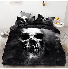 Black Giant Skull Duvet Cover Set