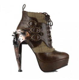 Hades Shoes Brown Oxford Steampunk Platforms
