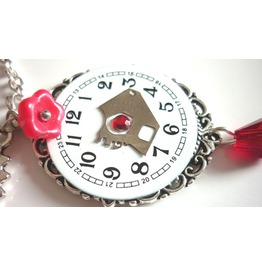Hours Steampunk Necklace Recycled Upcycled Watch