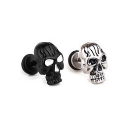 Wicked Skull Labrets Black Or Silver