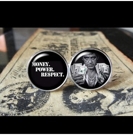 Scarface Money Power Respect Cuff Links Men,Weddings